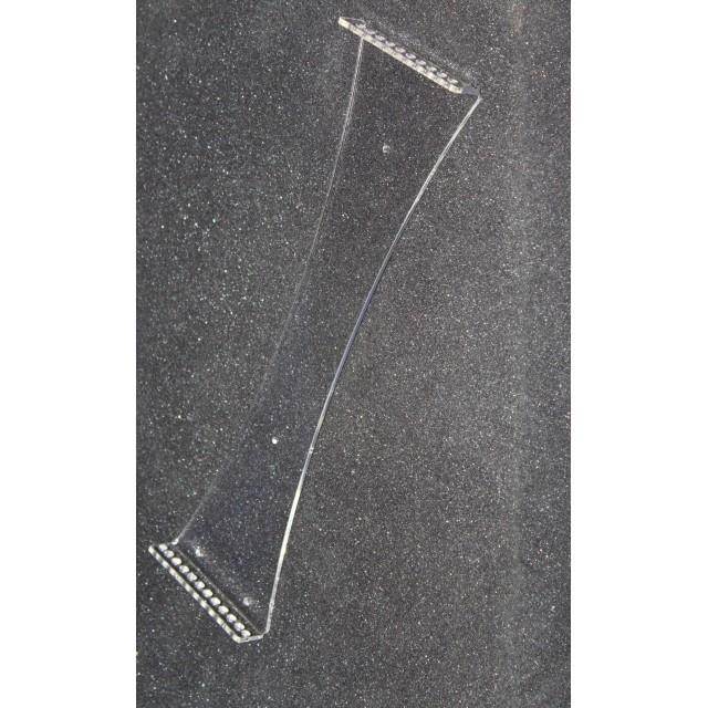 Настенная перекидная система А4; 10 карманов, держат. акриловый 3мм,фигурная