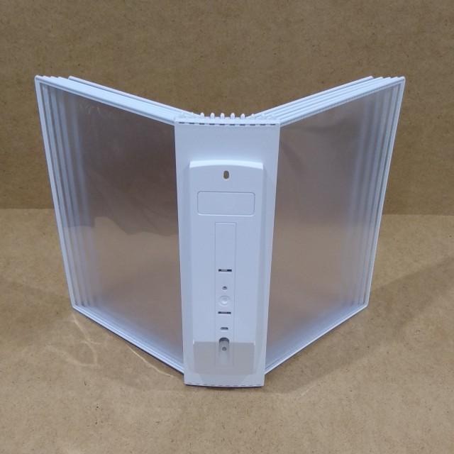 Настенная перекидная система А4; 10 карманов, держат. литой ABS пластик белый