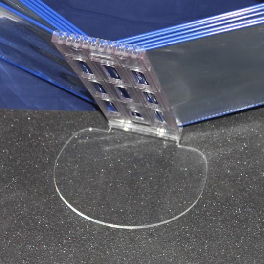 Настольная перекидная система А4 с 10-ю карманами,  держатель пластик, прозрачный пластик