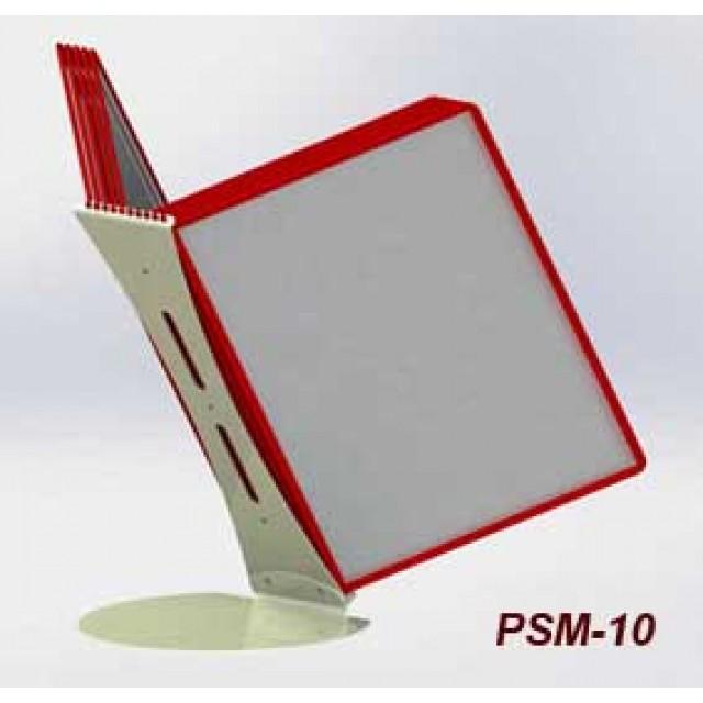 Настольная перекидная система А4 с 10-ю карманами, металлическое основание и металлический корпус 2 мм