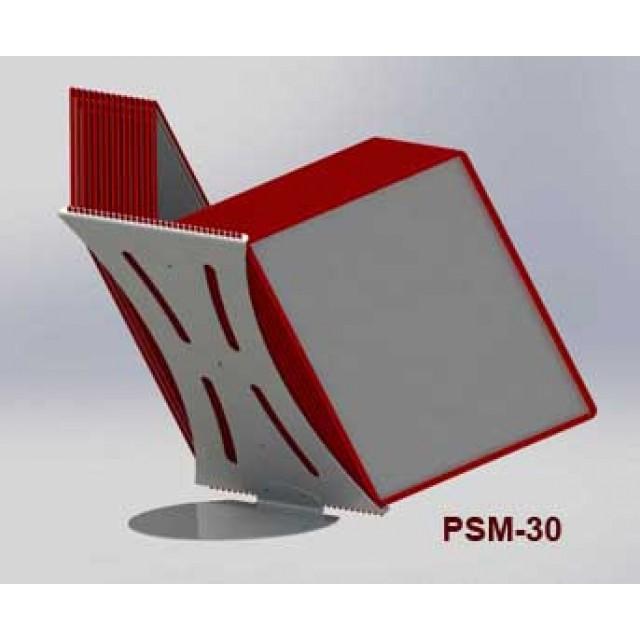 Настольная перекидная система А4 с 30-ю карманами, металлическое основание и металлический корпус 2 мм