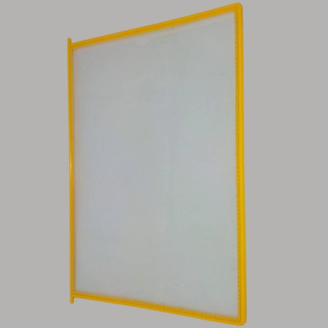 Карман желтый для перекидной демосистемы